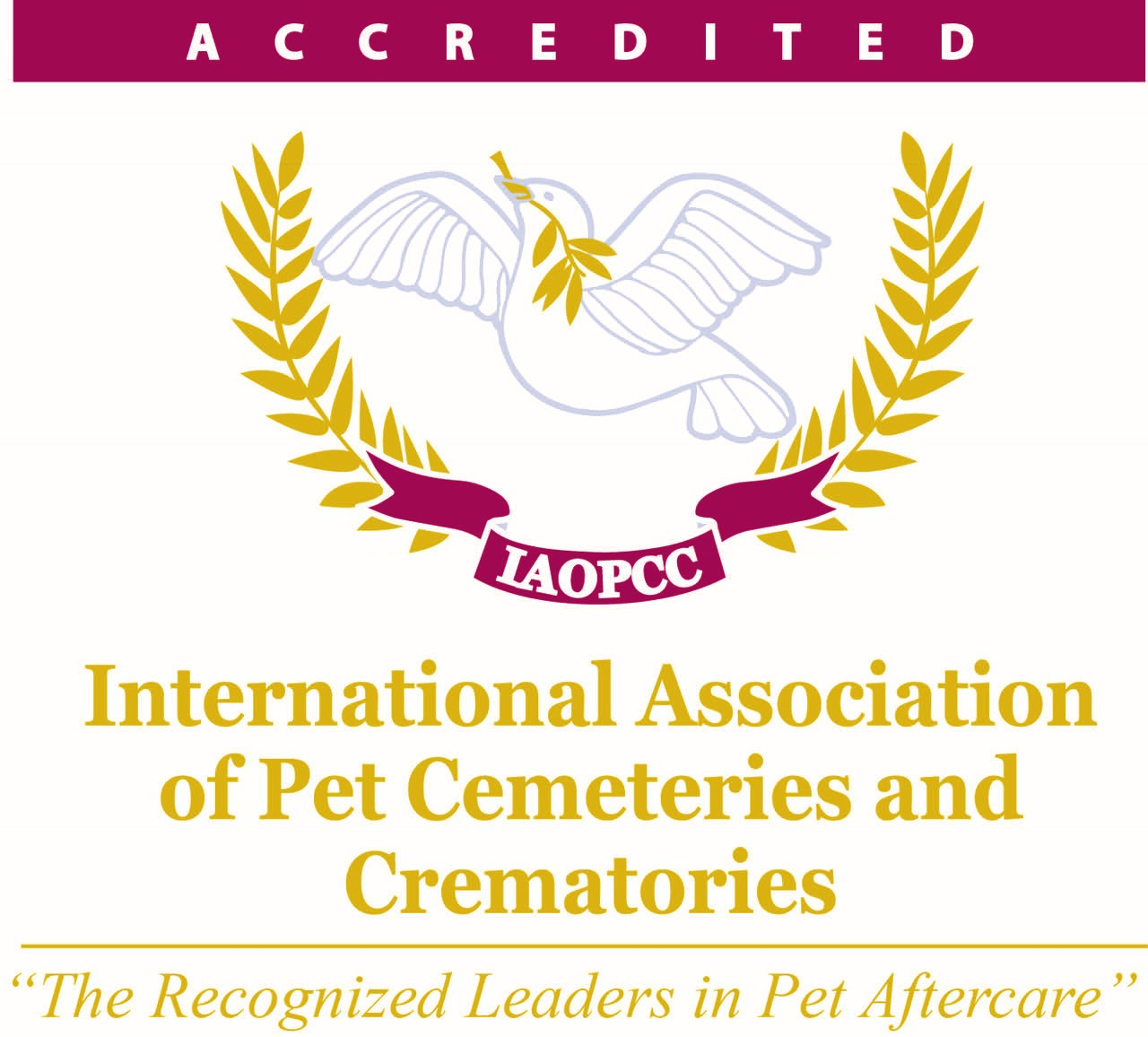 Logo for international pet cemeteries and crematories