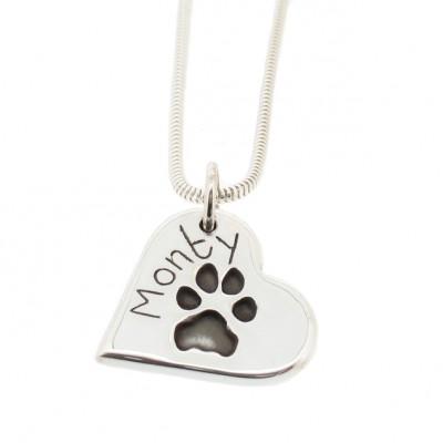 Large Silver Pawprint Pendant (3 shapes)