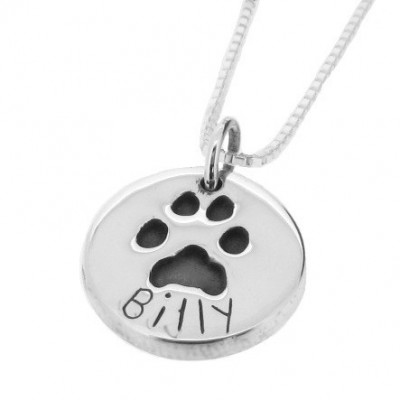 Small Silver Pawprint Pendant (3 Shapes)
