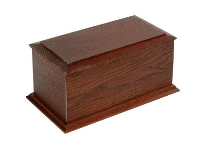 Mahogany Stained Casket